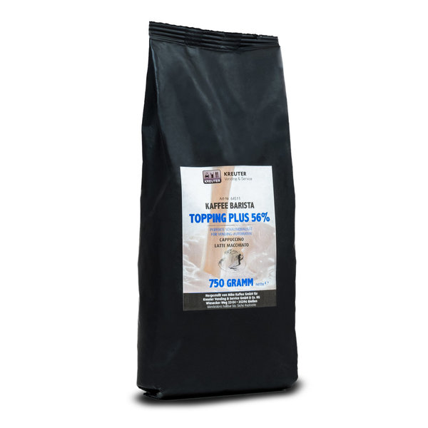 Kaffee Barista Topping plus 56% 750g